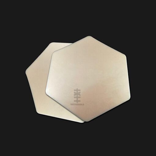 "Lienzo hexagonal | Piel Sintética Para Tatuar | 100% silicona tamaño ""carta"""