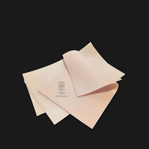 Lienzo rectangular | Piel Sintética Para Tatuar | 100% silicona tamaño media carta