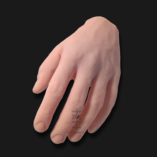 Mano masculina | Piel Sintética Para Tatuar | Mano 100% silicona tamaño real
