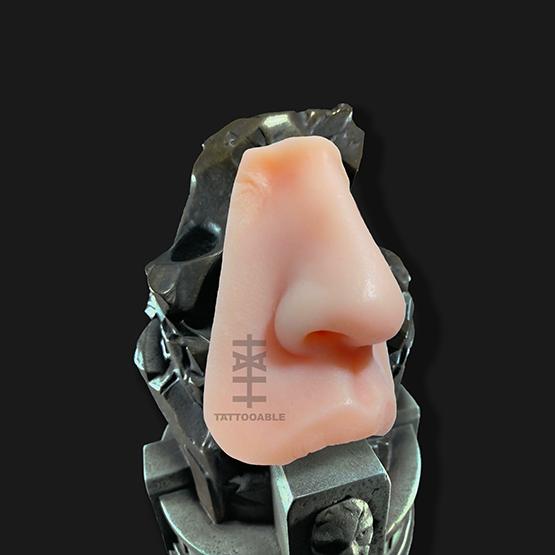 Nariz+labio superior | Piel Sintética Para Tatuar | 100% silicona tamaño real