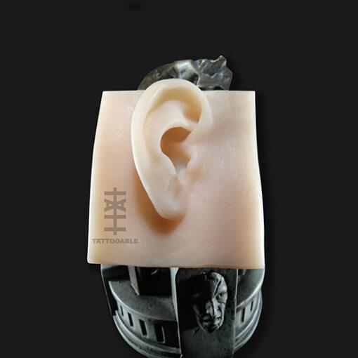 Oreja derecha | Piel Sintética Para Tatuar | 100% silicona tamaño real